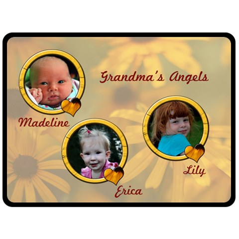 Grandma s Angels By Patricia W   Fleece Blanket (large)   Byrsjm87md0w   Www Artscow Com 80 x60 Blanket Front