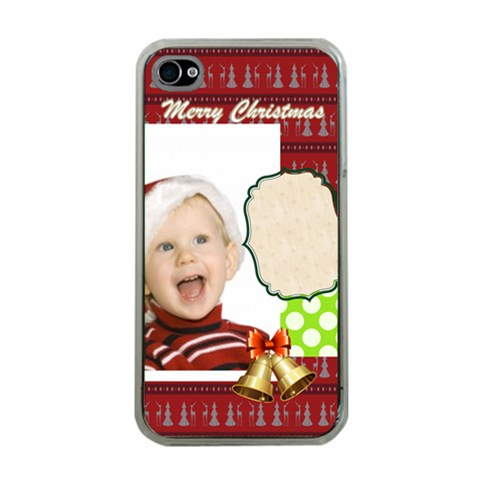 Xmas By Man   Apple Iphone 4 Case (clear)   Afx4sj3m2b71   Www Artscow Com Front