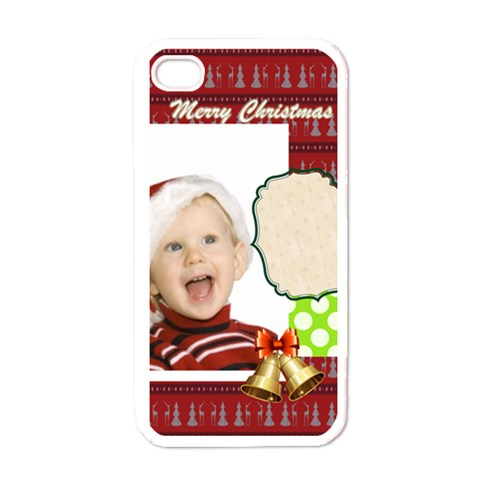 Xmas By Man   Apple Iphone 4 Case (white)   J5g9vopewfx4   Www Artscow Com Front