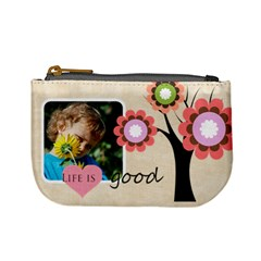 Life Is Good By Jacob   Mini Coin Purse   4ratfj8gaigg   Www Artscow Com Front