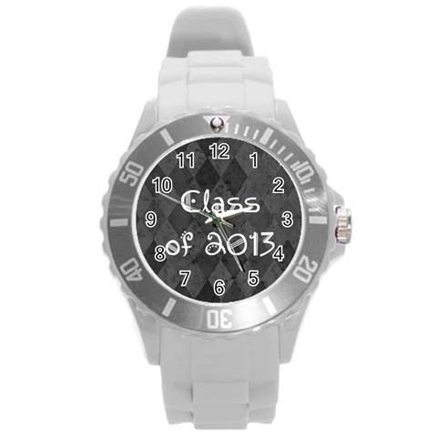 Class Of 2013 Graduation Senior Class Watch By Angela   Round Plastic Sport Watch (l)   Pfiimca2if25   Www Artscow Com Front