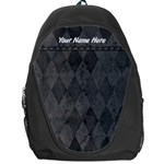 Black/Gray Personalized Name Backpack Rucksack - Backpack Bag