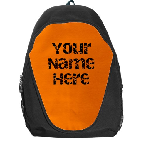 Bright Orange Personalized Name Backpack Rucksack By Angela   Backpack Bag   1xs0hxgn926s   Www Artscow Com Front