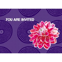Invitations By Jenny   Circle 3d Greeting Card (7x5)   Uvwlanijsrel   Www Artscow Com Front