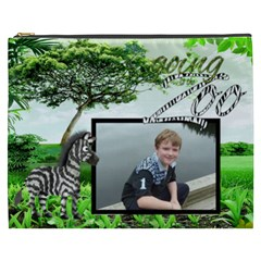 Going To The Zoo  Xxxl Cosmetic Bag By Catvinnat   Cosmetic Bag (xxxl)   0bt5a93hrsga   Www Artscow Com Front
