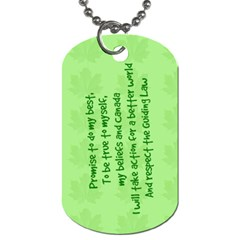 Guiding Dog Tag   Pathfinders Daisy By Patricia W   Dog Tag (two Sides)   J6y9eavee8qx   Www Artscow Com Back