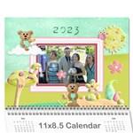 Seasonal Calendar 11 x 8.5 (12 months) - Wall Calendar 11  x 8.5  (12-Months)
