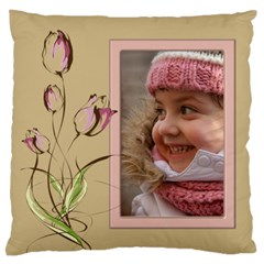 Tulip In Pink Large Cushion Case (2 Sided) By Deborah   Large Cushion Case (two Sides)   06zdc66v5563   Www Artscow Com Front