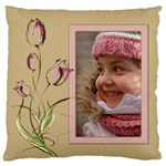 Tulip in Pink Large Cushion Case (2 sided) - Large Cushion Case (Two Sides)