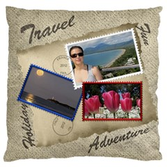 Europe Holiday Large Cushion Case (2 Sided) By Deborah   Large Cushion Case (two Sides)   Lk0508fh5p3s   Www Artscow Com Front