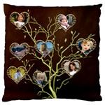 Family Tree Large Cushion Case - Large Cushion Case (One Side)