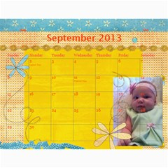 Ashlyn By Rainey   Wall Calendar 11  X 8 5  (12 Months)   Cowckh9lping   Www Artscow Com Sep 2013