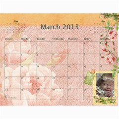 Ashlyn By Rainey   Wall Calendar 11  X 8 5  (12 Months)   Cowckh9lping   Www Artscow Com Mar 2013
