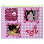 Pink Gingham Grandma Cosmetic Bag (XXXL) 2 sides