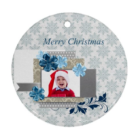 Xmas By Jacob   Ornament (round)   Bhorbha6orif   Www Artscow Com Front