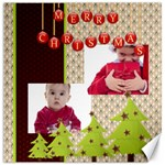 merry christmas - Canvas 12  x 12