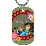 thank you - Dog Tag (Two Sides)