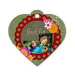 thank you - Dog Tag Heart (One Side)