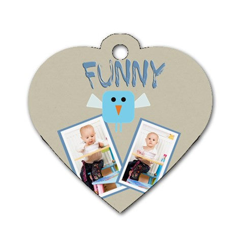 Funny By Jacob   Dog Tag Heart (one Side)   Q2upcsloqxay   Www Artscow Com Front