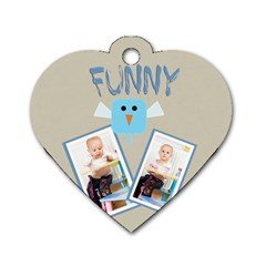 Funny By Jacob   Dog Tag Heart (two Sides)   Zf4y0egsvg3y   Www Artscow Com Back
