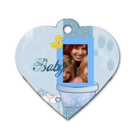 Baby By Jacob   Dog Tag Heart (one Side)   Gnzznd2migvn   Www Artscow Com Front