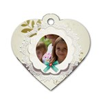 baby - Dog Tag Heart (One Side)