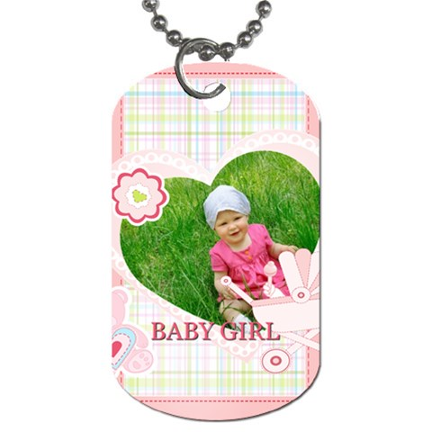 Baby By Jacob   Dog Tag (one Side)   6ll0gkbhpyb4   Www Artscow Com Front