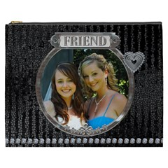 Friend Xxxl Cosmetic Bag By Lil    Cosmetic Bag (xxxl)   2b1l9h88r153   Www Artscow Com Front