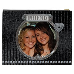 Friend Xxxl Cosmetic Bag By Lil    Cosmetic Bag (xxxl)   2b1l9h88r153   Www Artscow Com Back