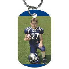 Football Dog Tag By Bethany   Dog Tag (two Sides)   D2yc5boptkrm   Www Artscow Com Back