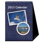 Damask Dream Desktop Calendar 2013 - Desktop Calendar 6  x 8.5