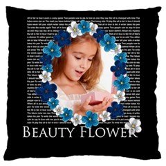 Flower By Joely   Large Cushion Case (two Sides)   M8y3o6v0jymx   Www Artscow Com Back