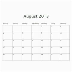 2013 Basic Black & White Calendar By Mim   Wall Calendar 11  X 8 5  (12 Months)   1b0wurlpb201   Www Artscow Com Aug 2013