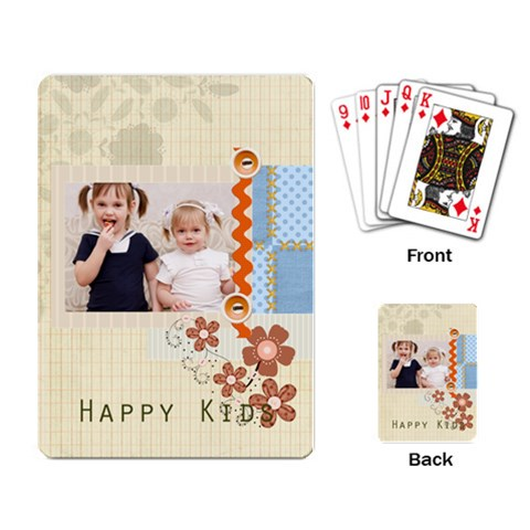 Happy Day By Joely   Playing Cards Single Design   Fbcwhbn8kctf   Www Artscow Com Back