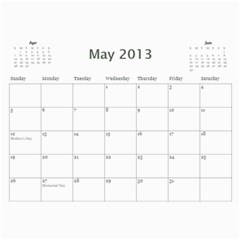 Damask Calendar For 2013 By Mim   Wall Calendar 11  X 8 5  (12 Months)   2xm01zbe0it5   Www Artscow Com May 2013