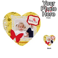 Happy Day By Joely   Multi Purpose Cards (heart)   M3p5xs0a12b3   Www Artscow Com Front 30
