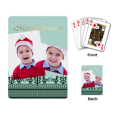Merry Christmas By Clince   Playing Cards Single Design   Z2nae75u1auf   Www Artscow Com Back
