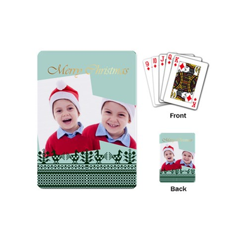 Merry Christmas By Clince   Playing Cards (mini)   Es19t92b7h81   Www Artscow Com Back