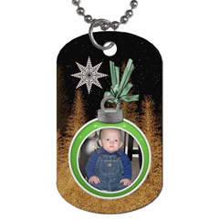 Christmas Star 2 Sided Dog Tag By Lil    Dog Tag (two Sides)   J8y6dno0cnib   Www Artscow Com Front