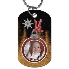 Christmas Star 2 Sided Dog Tag By Lil    Dog Tag (two Sides)   J8y6dno0cnib   Www Artscow Com Back