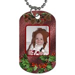 Christmas Holly 2-sided Dog Tag - Dog Tag (Two Sides)