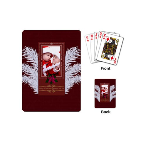 Xmas By Debe Lee   Playing Cards (mini)   Gmyq7n04c5uq   Www Artscow Com Back