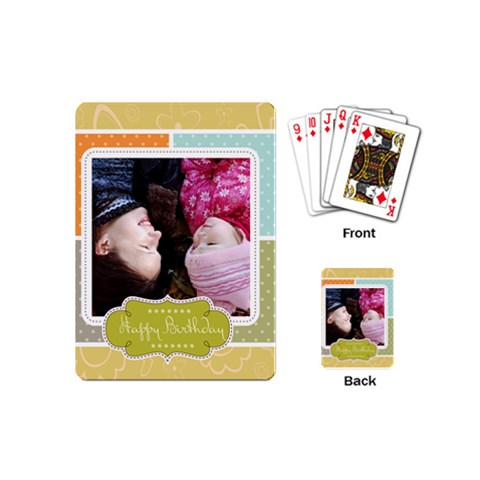 Happy Birthday By Man   Playing Cards (mini)   Rr9xn3q9o4p6   Www Artscow Com Back