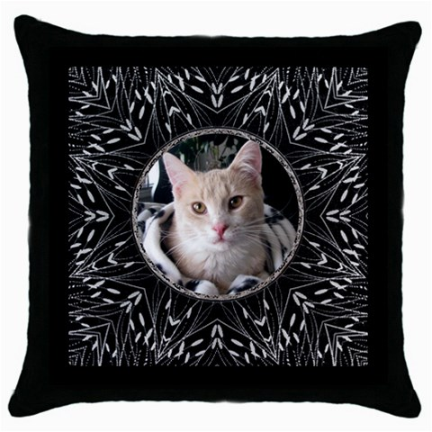 Bold Black Throw Pillow Case By Lil    Throw Pillow Case (black)   4u011gnbpc33   Www Artscow Com Front