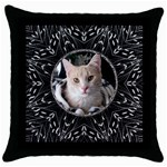 Bold Black Throw Pillow Case - Throw Pillow Case (Black)