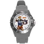 Large Sports Watch_Auburn University - Round Plastic Sport Watch (L)
