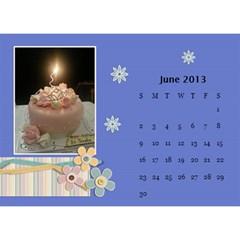 Calender2013 By Posche Wong   Desktop Calendar 8 5  X 6    Scnv7r09lk1o   Www Artscow Com Jun 2013