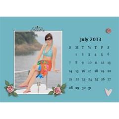 Calender2013 By Posche Wong   Desktop Calendar 8 5  X 6    Scnv7r09lk1o   Www Artscow Com Jul 2013