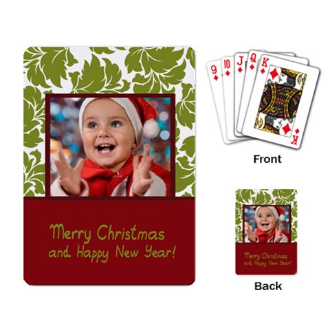 Xmas By Man   Playing Cards Single Design   Hre0vynme74w   Www Artscow Com Back