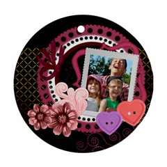 Love By Joely   Round Ornament (two Sides)   Mexfznn2jpdt   Www Artscow Com Back